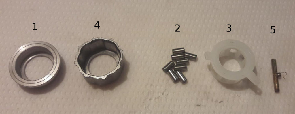 Ryobi Zauber - anti-reverse roller bearing