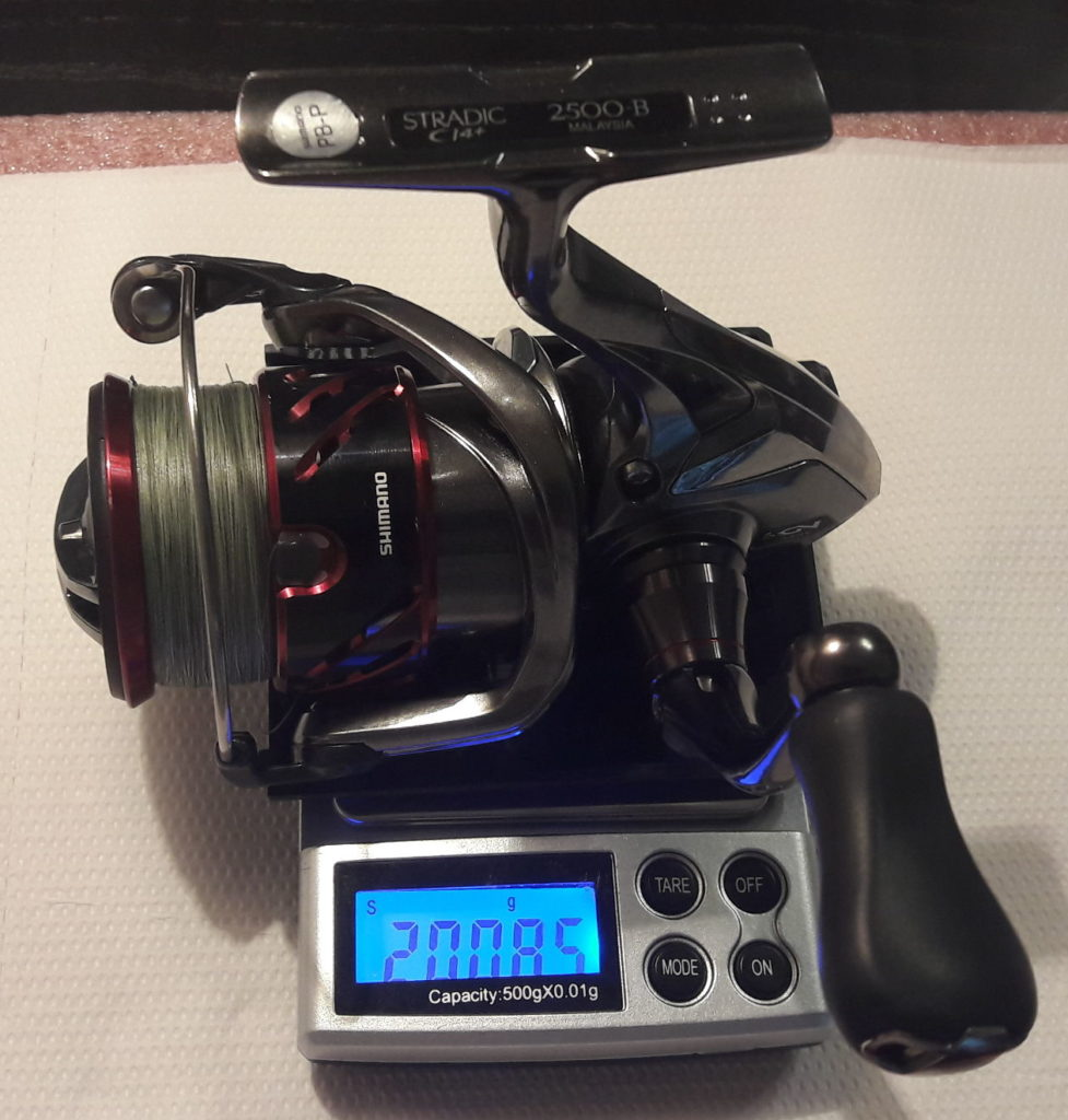 Shimano Stradic CI4+ FB – weight